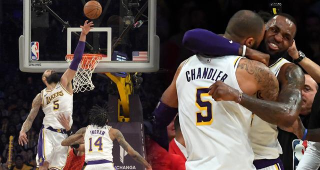 NBA-詹姆斯26分拳王封盖绝杀 湖人3连胜