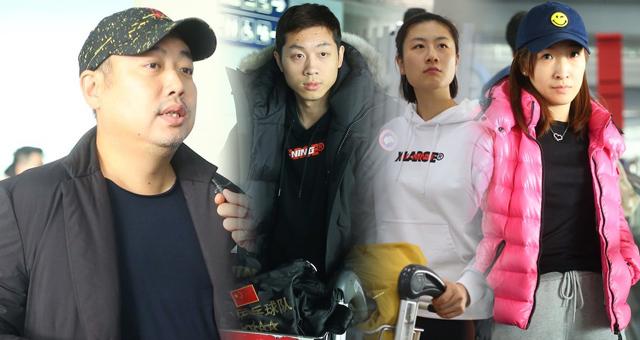 刘国梁率国乒回国抵达北京