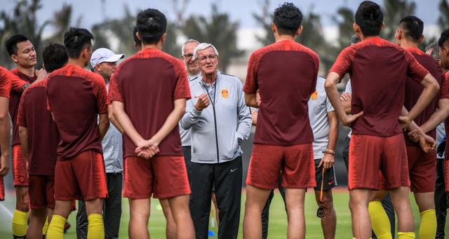 中国男足海口集结训练备战亚洲杯