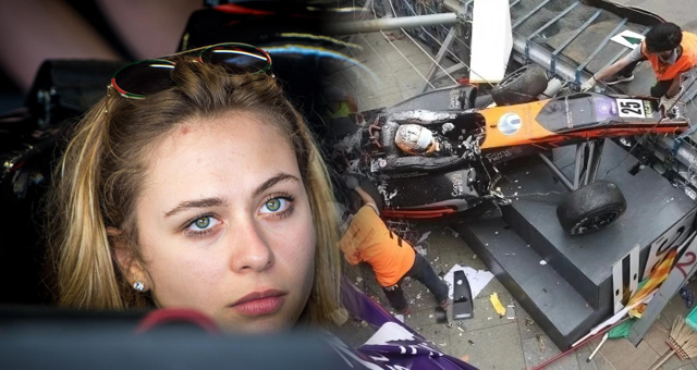 澳门F3大赛女车手撞车事故