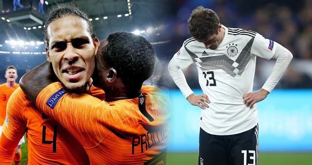 欧国联-荷兰连追2球2-2平德国 头名晋级