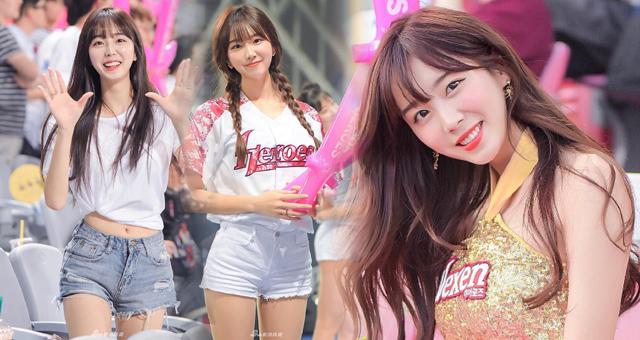 韩国棒球拉拉队一姐拍写真 甜美堪比爱豆