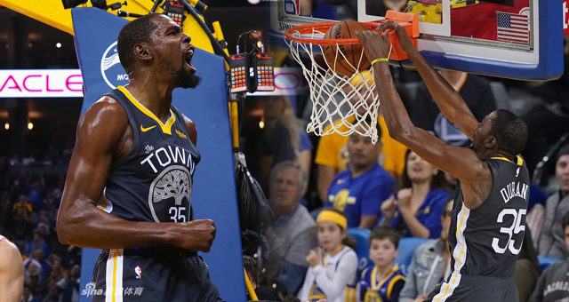 [NBA]勇士大胜西部第一28分 杜兰特32分