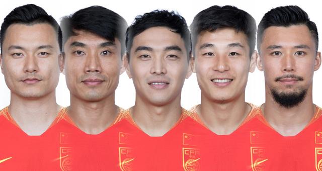 国足亚洲杯名单官方照 郑智武磊领衔