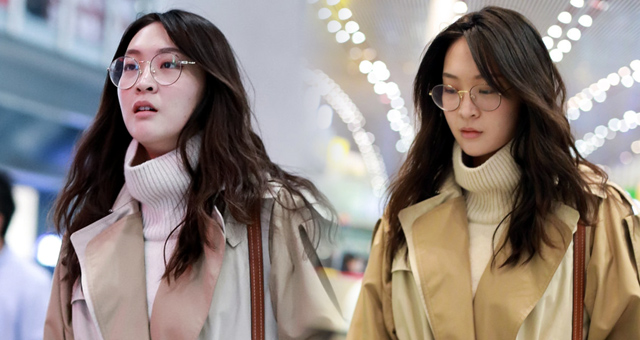惠若琪戴眼镜文艺范儿女神