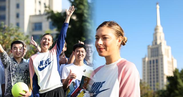 网球女神莎拉波娃亮相深圳 与粉丝们互动
