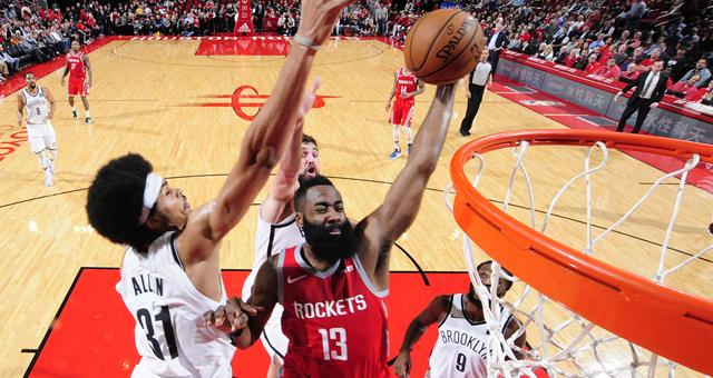 [NBA]篮网加时145-142逆转火箭 哈登58分打水漂