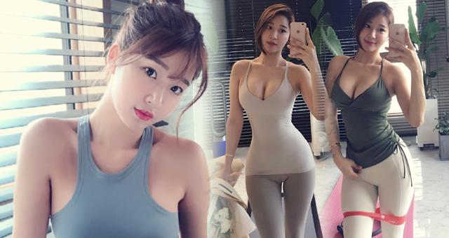 韩国30岁健身美女练出蜜桃臀 曲线凹凸有致