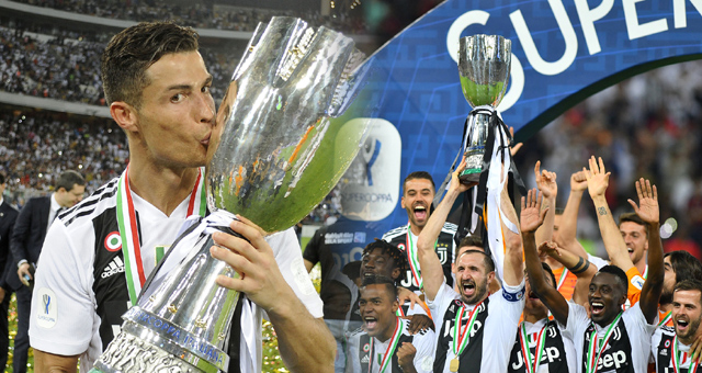 C罗破门 尤文1-0米兰夺意大利超级杯