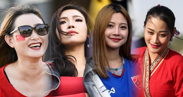 中泰女球迷亚洲杯现场颜值PK!