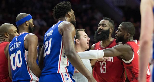 NBA-火箭客场惨负76人 大帝32分力压哈登