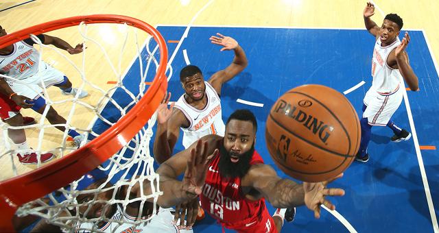 [NBA]哈登生涯新高61分 火箭客胜尼克斯