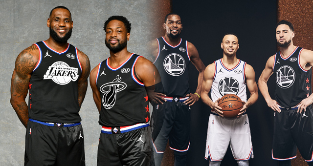 NBA全明星定妆照 詹韦15年后最后一舞
