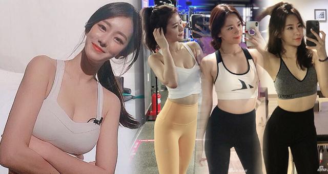 韩国网红健身美女写真 苦练完美腰臀比