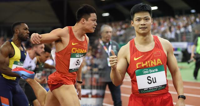 室内田径巡回赛-苏炳添60米6秒49夺冠