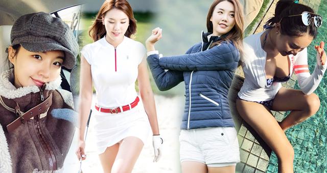 韩国高尔夫氧气美女笑眼长腿身材一级棒