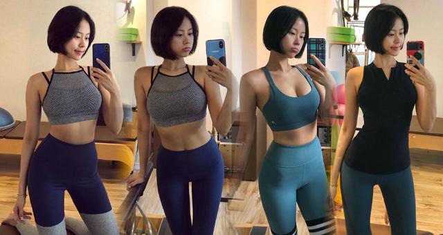 韩国嫩模健身一周五练 练出好身材
