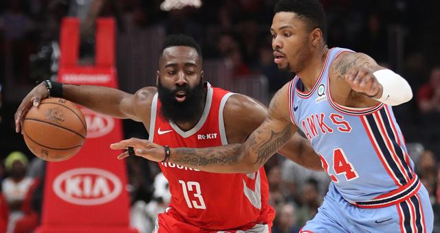 NBA-火箭客场取胜哈登砍31分 老鹰无缘季后赛