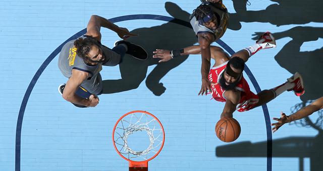 NBA-哈登空砍57分火箭加时不敌灰熊