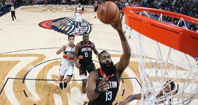 NBA-火箭大胜鹈鹕正式锁定季后赛