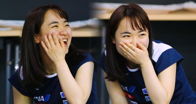 日本选手伊藤美诚开心备战世乒赛