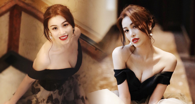 刘翔前妻夜店约会神秘男 圆领低胸装身材完美