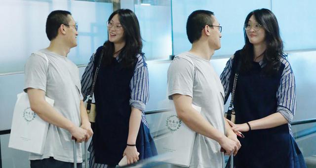 惠若琪和老公现身机场 神情亲昵