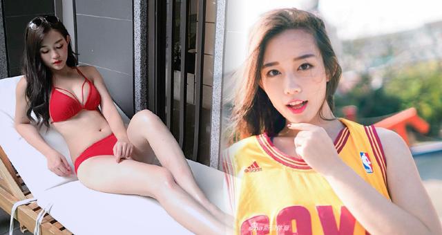台湾美女模特被男球迷热捧 甜美女神身材狂野