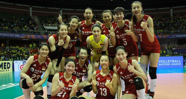世界联赛中国女排3-1多米尼加迎首胜