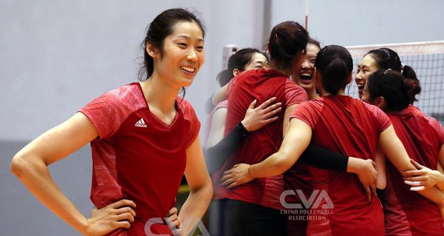 朱婷率中国女排备战世界联赛