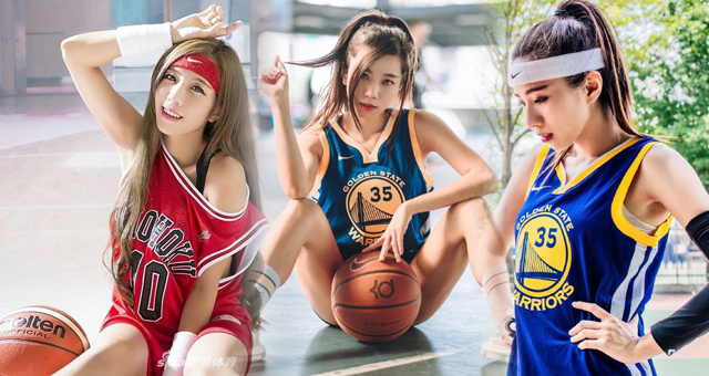 模特小姐姐最爱篮球和杜兰特 想和她一起打球吗