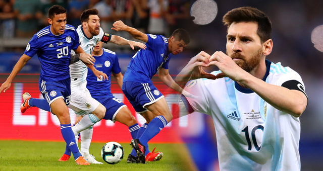 [美洲杯]梅西点球破门 阿根廷1-1战平巴拉圭
