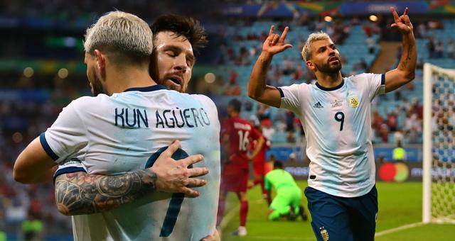 美洲杯-阿KUN破门 阿根廷惊险出线