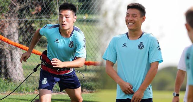 武磊训练备战西甲新赛季 脸上笑容灿烂