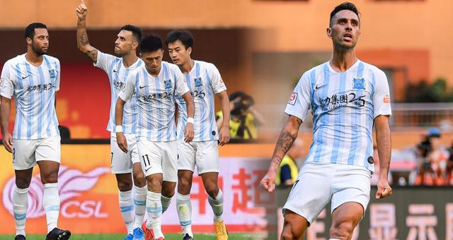 中超-扎哈维2球 广州富力2-1胜泰达