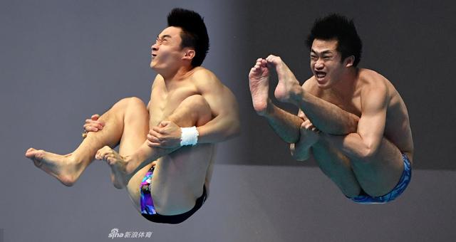 跳板跳水中的表情包:一看就想乐