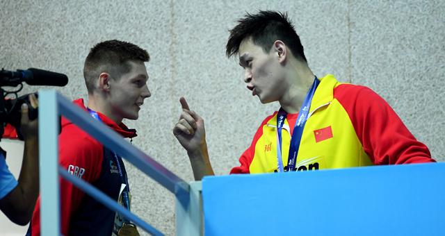 孙杨回应英国选手挑衅:你是失败者 我是赢家