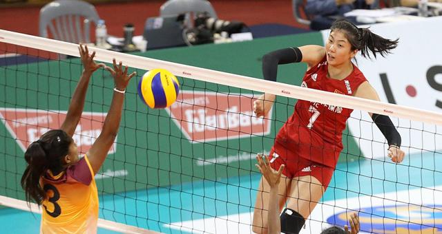 亚锦赛中国女排3-0斯里兰卡