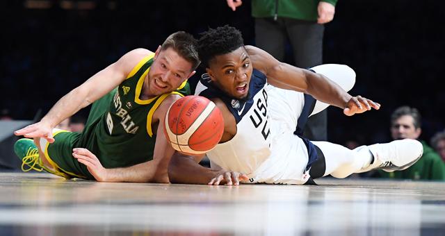 [世界杯热身赛]美国男篮102-86澳大利亚
