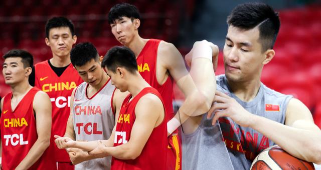 中国男篮广州踩场 郭艾伦方硕比肌肉
