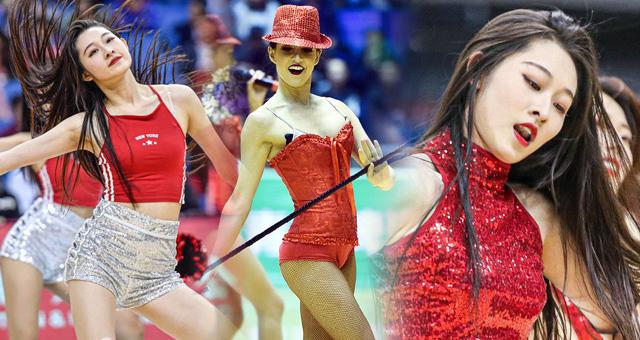 CBA季前赛拉拉队女郎热舞 颜值身材都在线