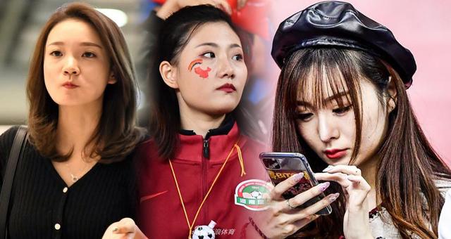 中超第26轮女球迷倩影 沪津豫苏女球迷看台PK