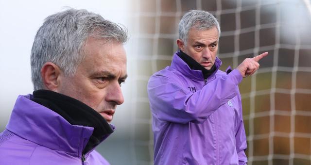 穆里尼奥热刺首训 紫色训练衣抢眼