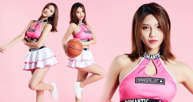 CBA北京紫禁勇士篮球宝贝甜美系写真