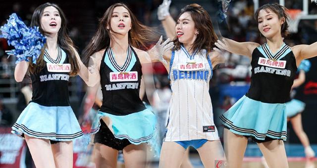 CBA北京首钢篮球宝贝热舞助威