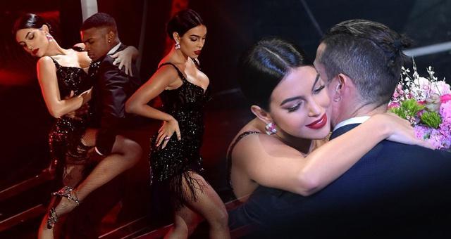 乔治娜热舞变身性感女郎 C罗台下送甜蜜亲吻