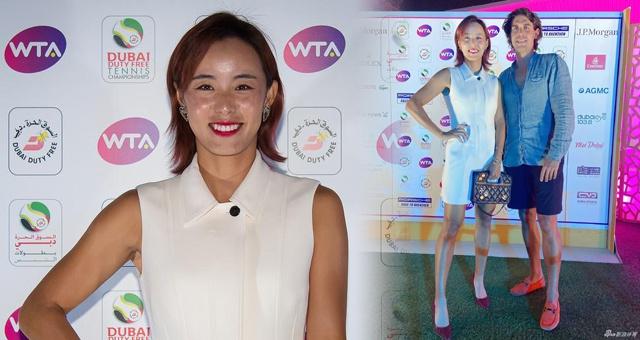 WTA迪拜冠军赛球员派对 王蔷白衣红高跟惊艳