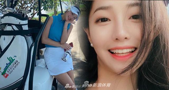 韩国高尔夫美女初恋脸甜美可爱