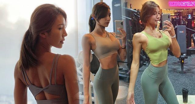 模特小姐姐爱健身秀火辣曲线 这身材什么水平