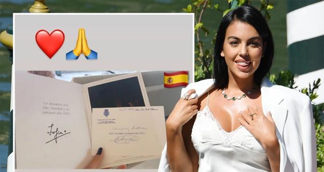 致力保护儿童!C罗女友乔治娜收到西班牙王室贺卡